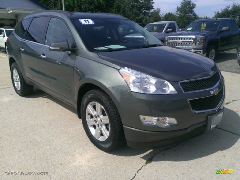 cyber gray metallic 2011 chevrolet traverse lt exterior. Black Bedroom Furniture Sets. Home Design Ideas