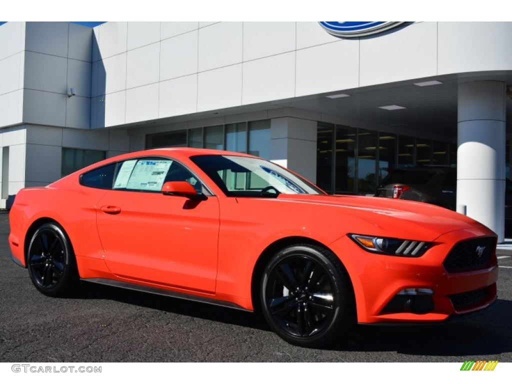 2015 Competition Orange Ford Mustang Ecoboost Premium Coupe 98356321 Car Color