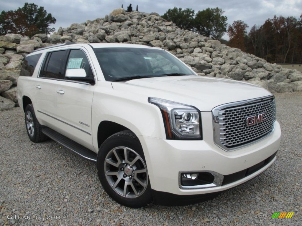 2015 White Diamond Tricoat GMC Yukon XL Denali 4WD #98356534 | GTCarLot.com - Car Color Galleries
