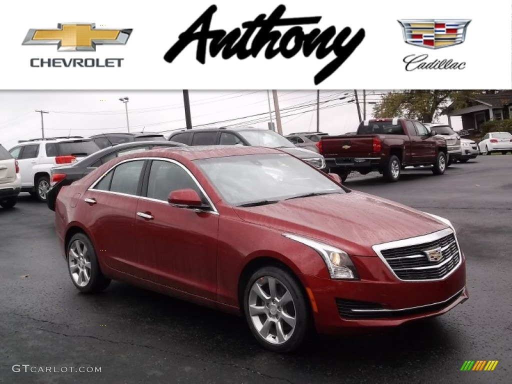 2015 red obsession tintcoat cadillac ats 2 0t luxury awd. Black Bedroom Furniture Sets. Home Design Ideas