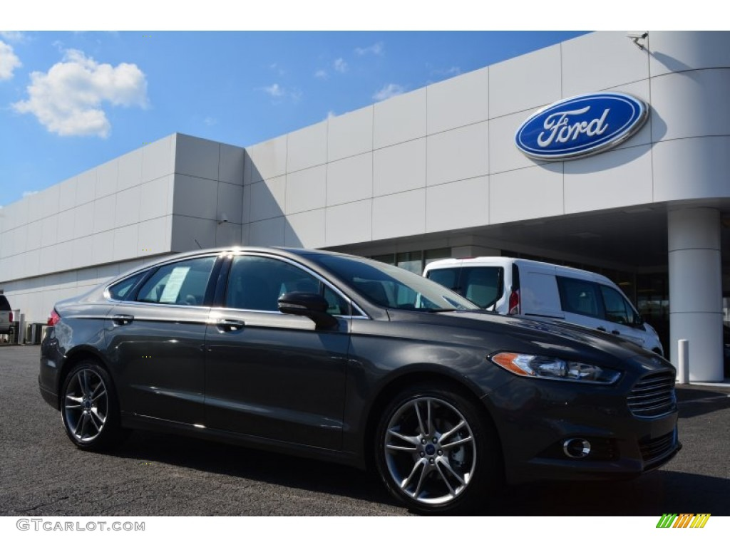 2015 fusion titanium magnetic metallic charcoal black photo 1 - 2015 Ford Fusion Titanium Black