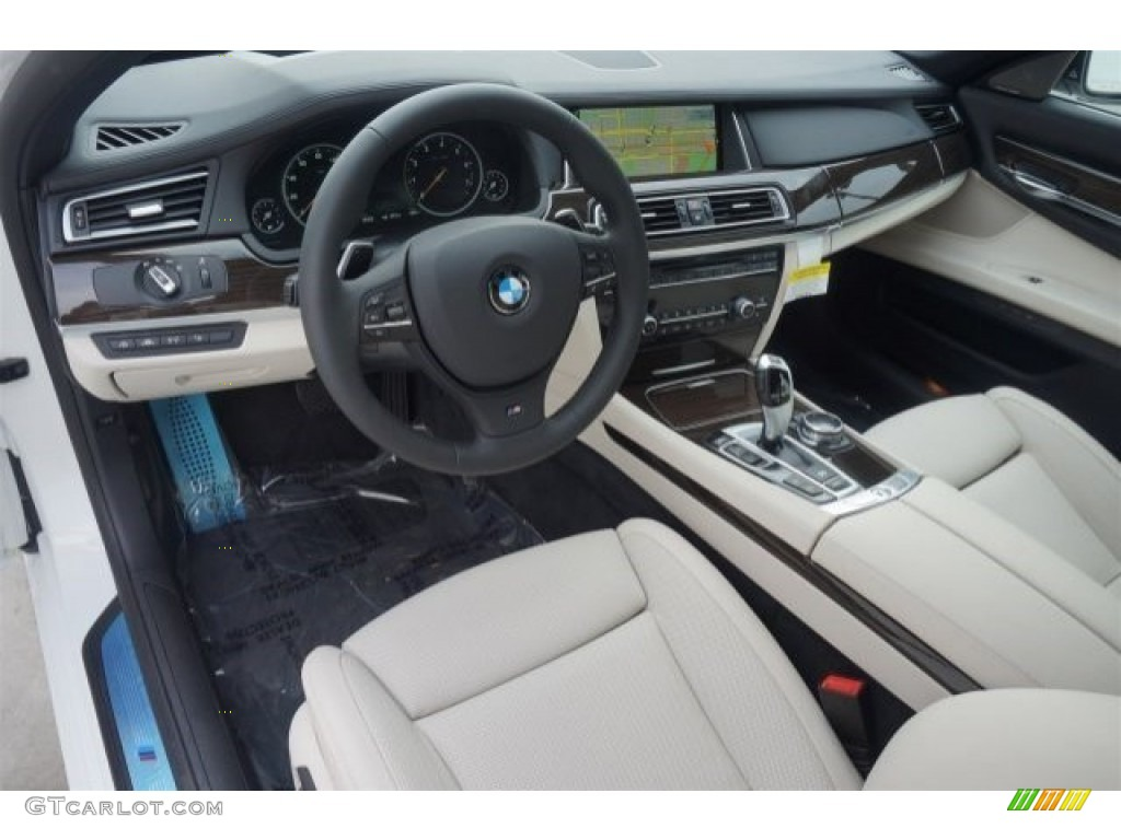 Ivory White Black Interior 2015 BMW 7 Series 740Li Sedan Photo 98411145