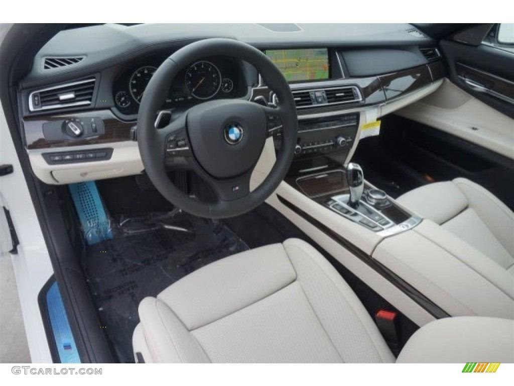 Ivory White Black Interior 2015 BMW 7 Series 740Li Sedan Photo 98411145