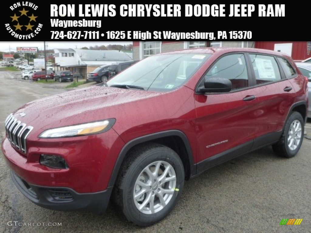 2015 Deep Cherry Red Crystal Pearl Jeep Cherokee Sport 4x4 98426360 Car Color