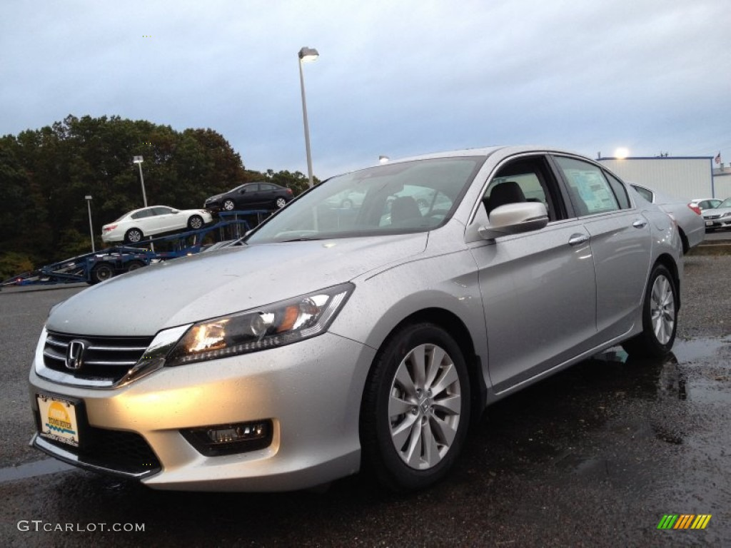 2014 alabaster silver metallic honda accord ex l sedan for 2014 honda accord sedan