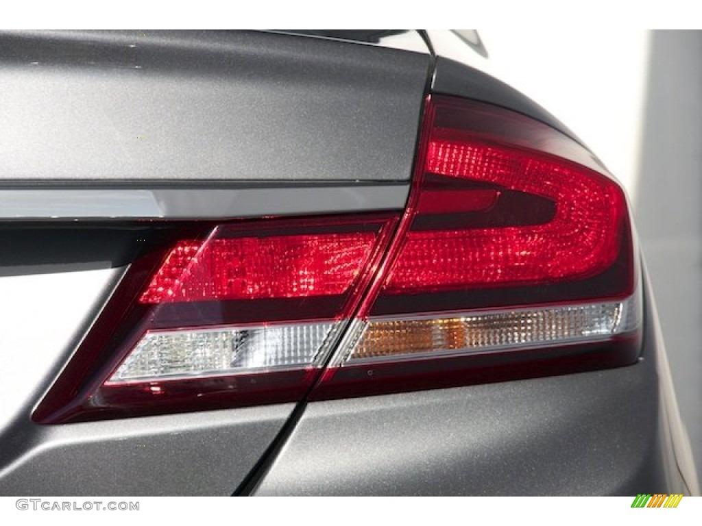 2015 Civic LX Sedan - Modern Steel Metallic / Black photo #4