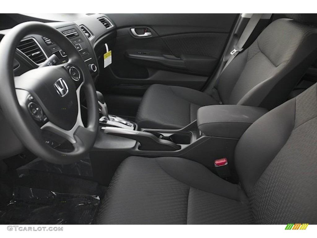 2015 Civic LX Sedan - Modern Steel Metallic / Black photo #10