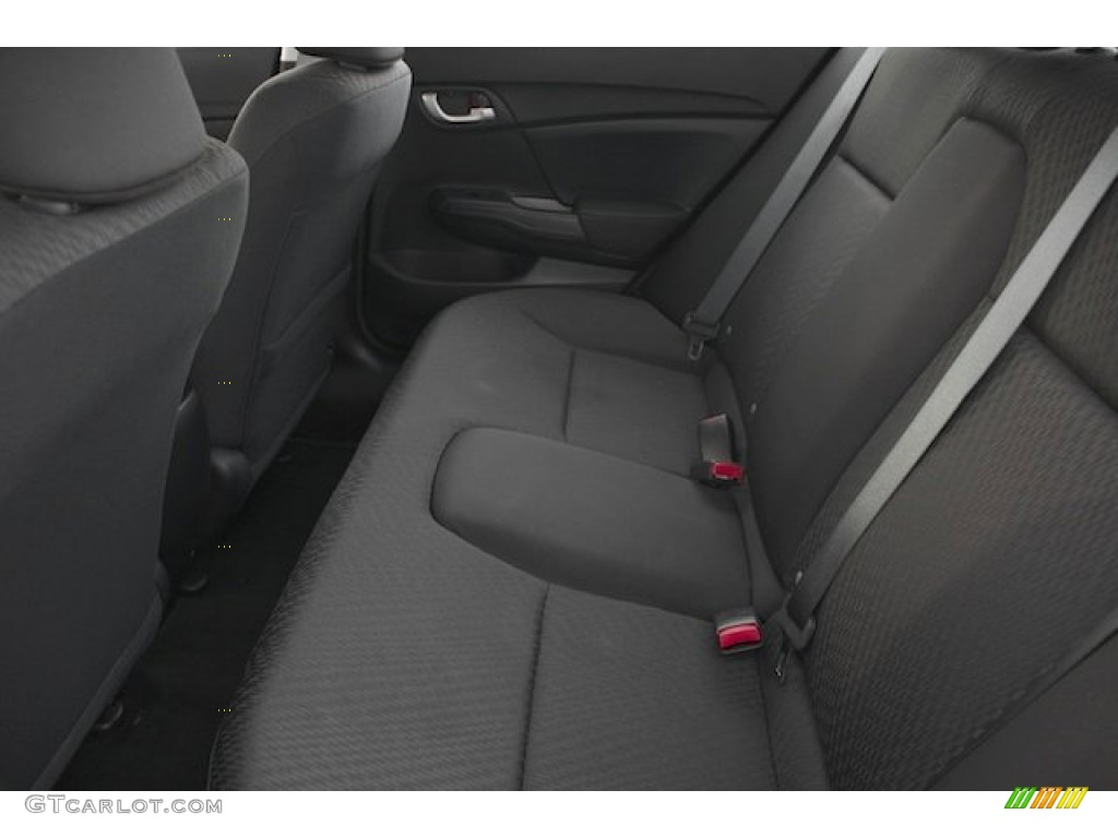 2015 Civic LX Sedan - Modern Steel Metallic / Black photo #13