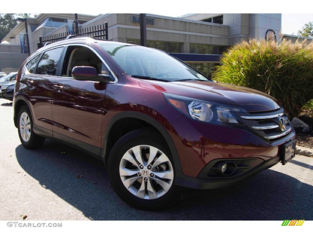 2012 CR-V EX-L 4WD - Basque Red Pearl II / Gray photo #1