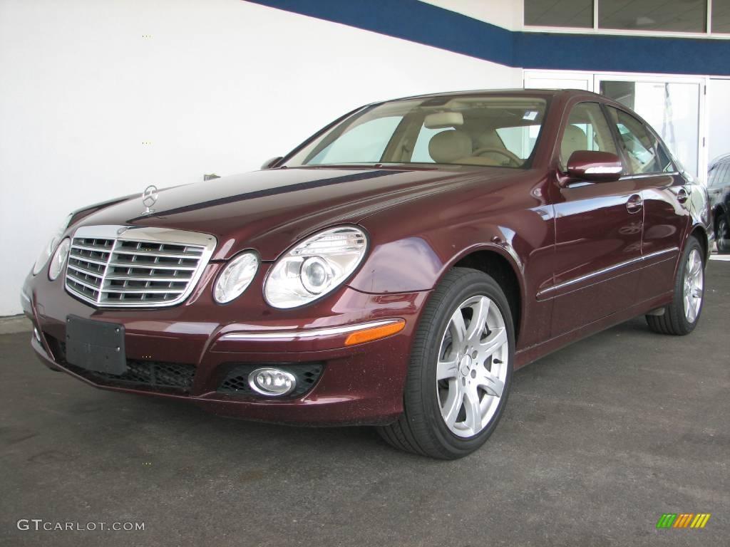2007 barolo red metallic mercedes benz e 350 4matic sedan for 2007 mercedes benz e 350
