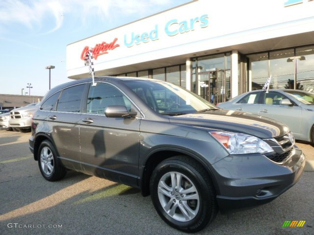 2011 CR-V EX-L 4WD - Polished Metal Metallic / Black photo #1