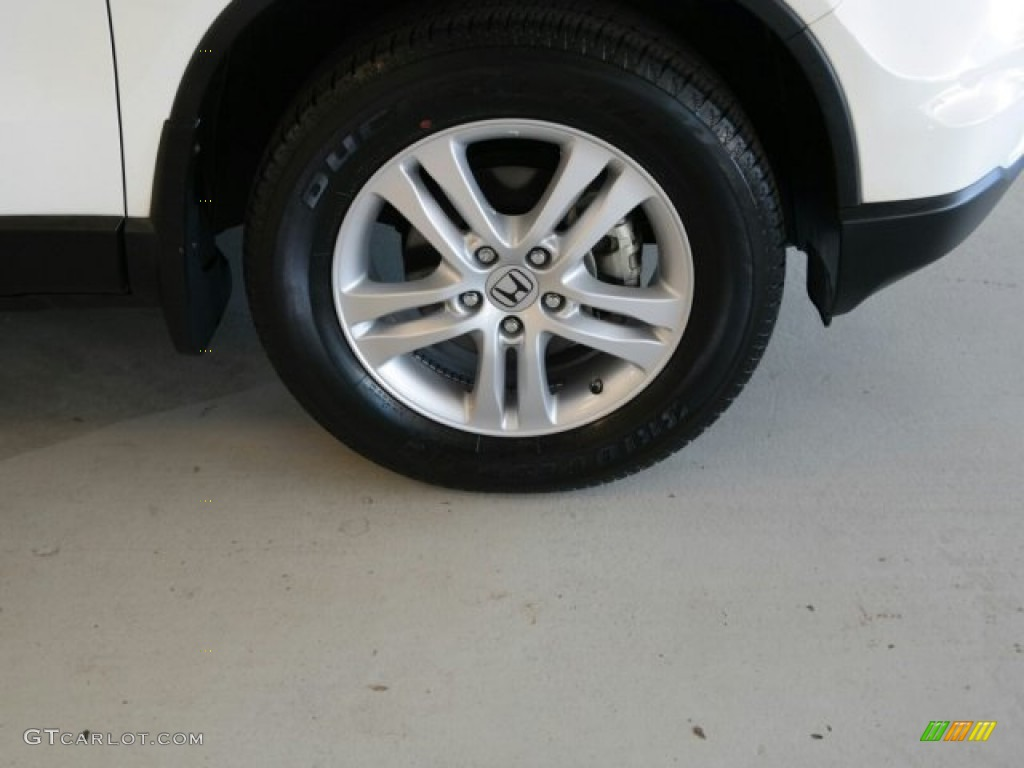 2011 CR-V EX - Taffeta White / Gray photo #3
