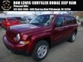 Deep Cherry Red Crystal Pearl 2015 Jeep Patriot Sport