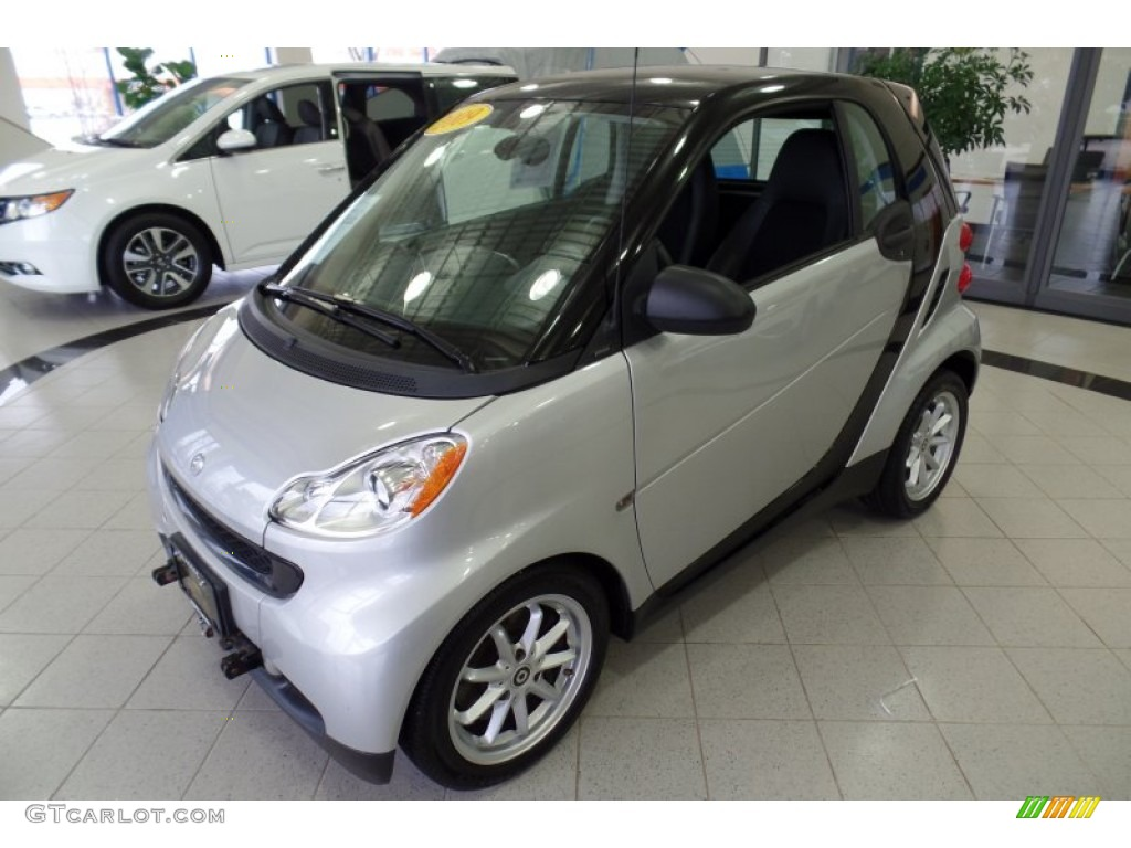 2009 silver metallic smart fortwo passion coupe 98637435 car color galleries. Black Bedroom Furniture Sets. Home Design Ideas