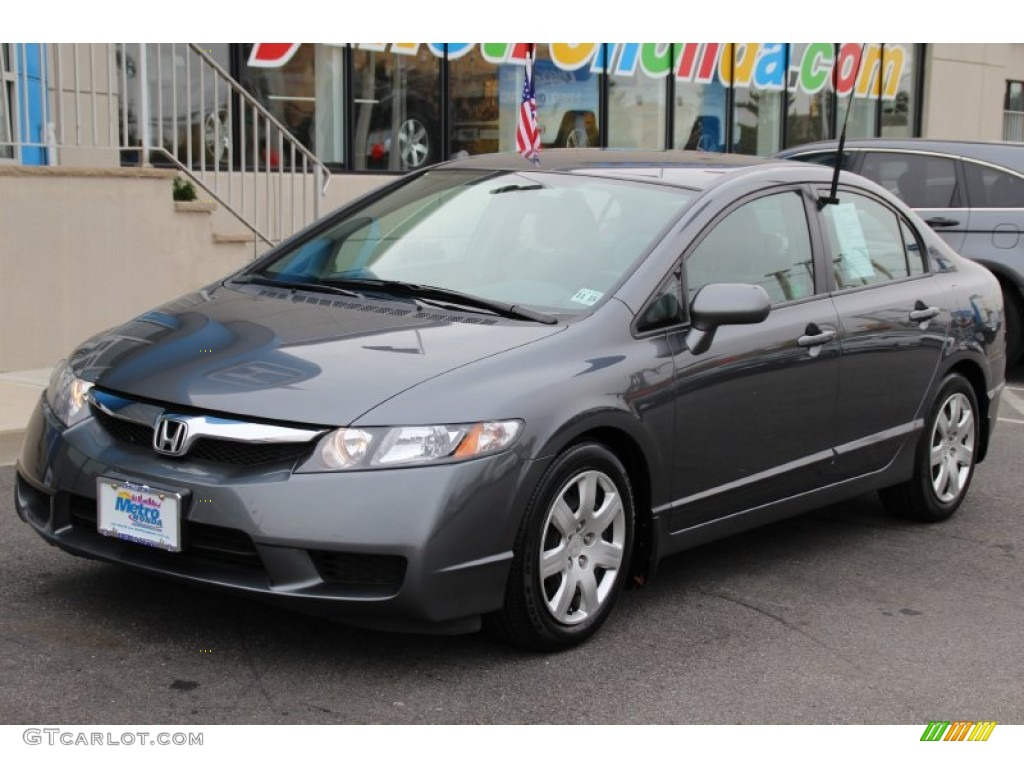 2011 Polished Metal Metallic Honda Civic Lx Sedan