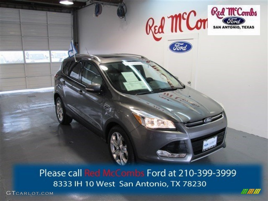 2014 Escape Titanium 1.6L EcoBoost - Sterling Gray / Medium Light Stone photo #1