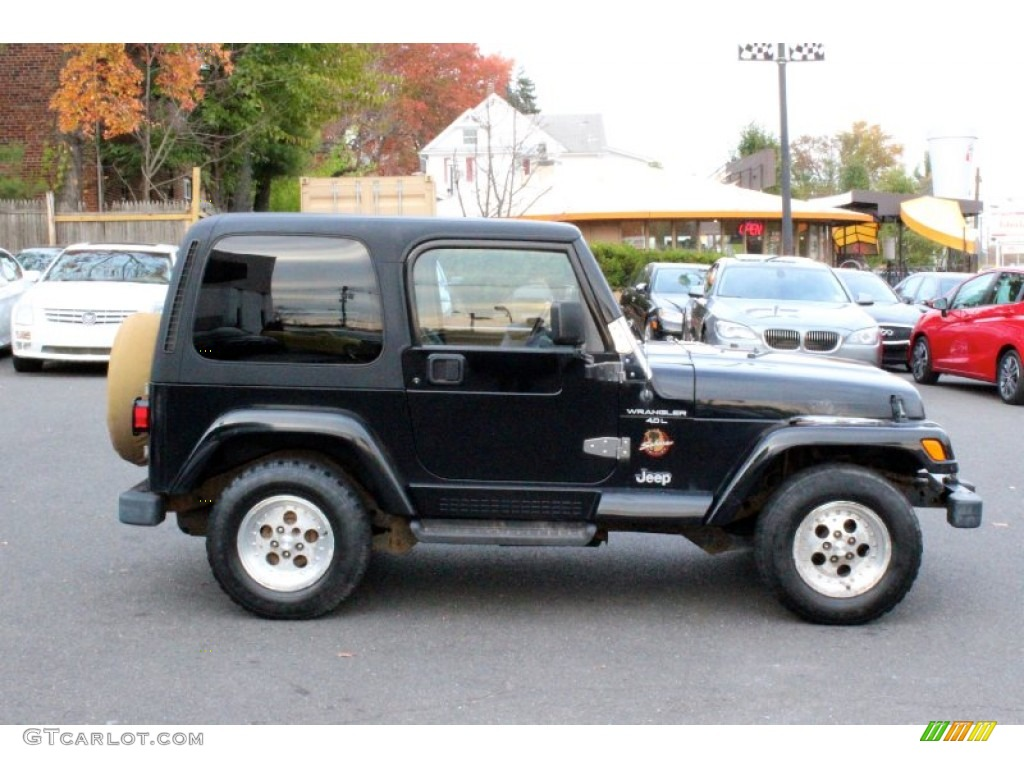 Black 1998 Jeep Wrangler Sahara 4x4 Exterior Photo