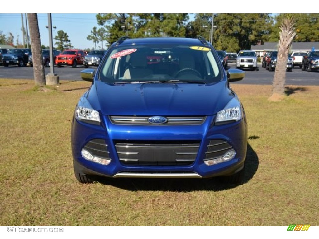 2014 Escape SE 2.0L EcoBoost - Deep Impact Blue / Medium Light Stone photo #2