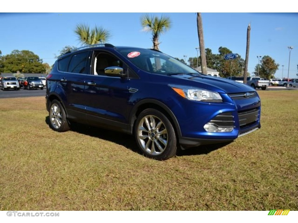 2014 Escape SE 2.0L EcoBoost - Deep Impact Blue / Medium Light Stone photo #3