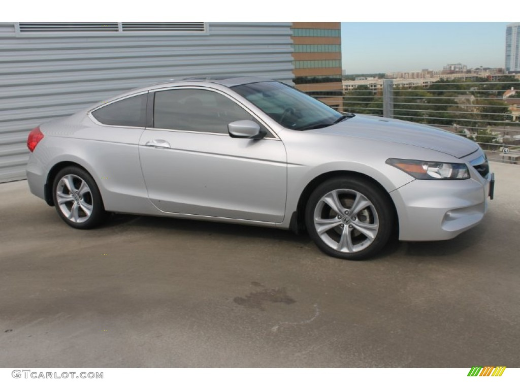 Alabaster Silver Metallic 2011 Honda Accord Ex L V6 Coupe