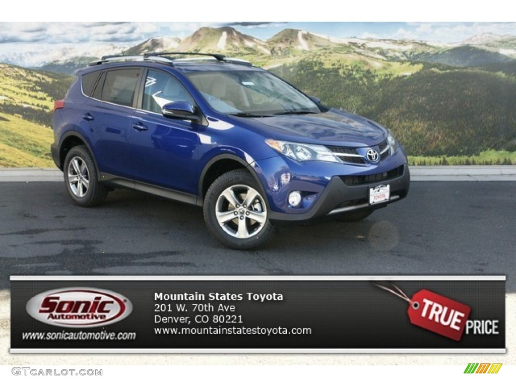 2015 blue crush metallic toyota rav4 xle awd 98724881 car color galleries. Black Bedroom Furniture Sets. Home Design Ideas