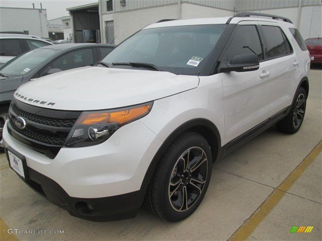 2015 white platinum ford explorer sport 4wd 98725017 car color galleries. Black Bedroom Furniture Sets. Home Design Ideas