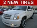 White Diamond Tricoat 2012 Cadillac Escalade Premium AWD