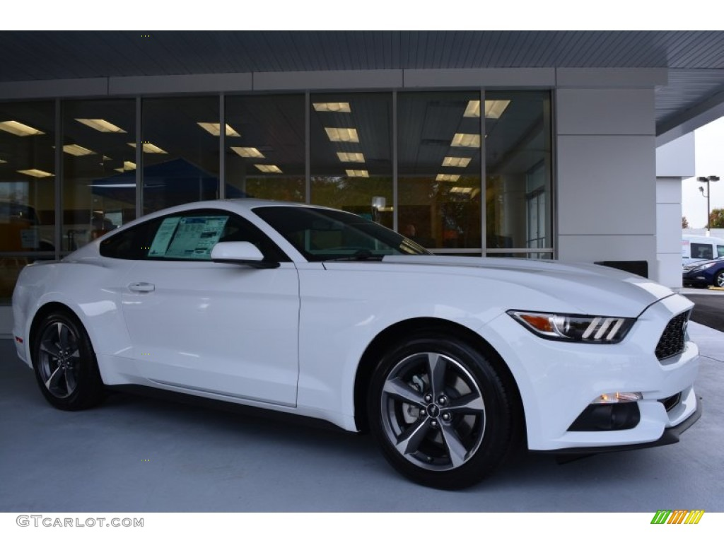 2015 Mustang V6 Coupe - Oxford White / Ebony photo #1