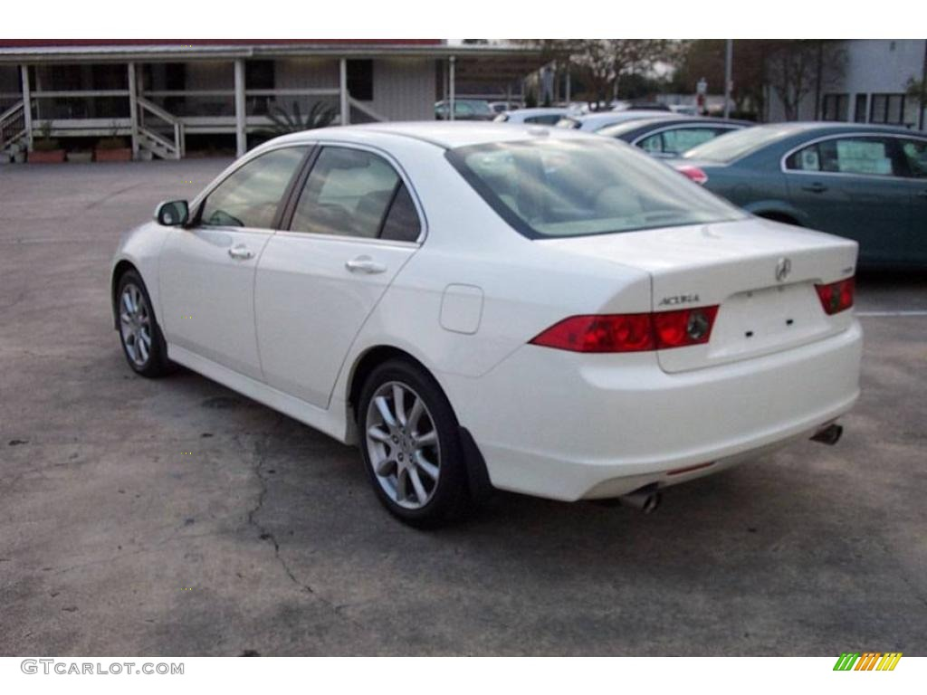 2008 TSX Sedan - Premium White Pearl / Parchment photo #3