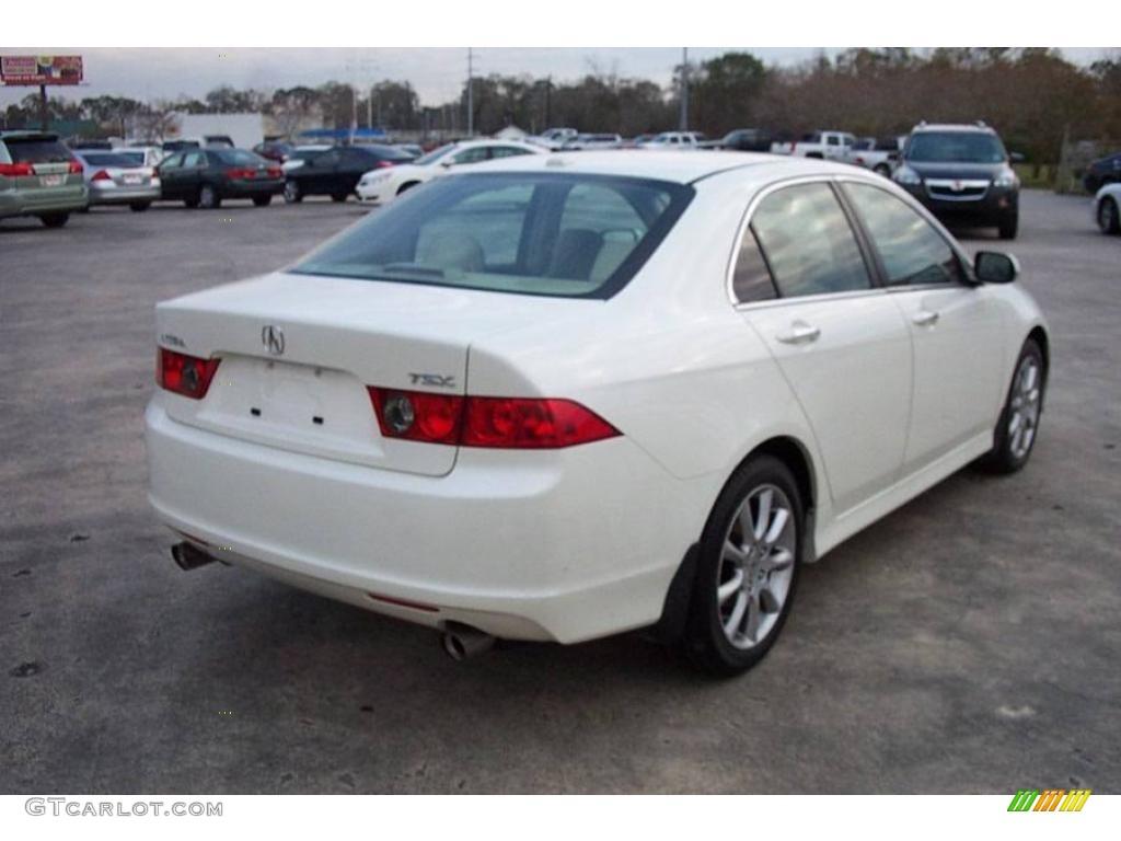 2008 TSX Sedan - Premium White Pearl / Parchment photo #4