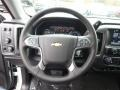 Jet Black Steering Wheel Photo for 2015 Chevrolet Silverado 1500 #98903988