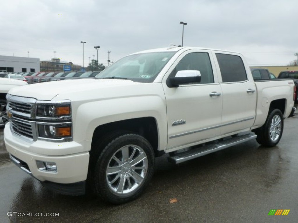 2015 white diamond tricoat chevrolet silverado 1500 high country crew cab 4x4 98889936. Black Bedroom Furniture Sets. Home Design Ideas