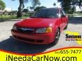 Classic Red 2000 Mazda Protege LX
