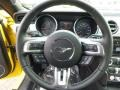 2015 Ford Mustang 50 Years Raven Black Interior Steering Wheel Photo