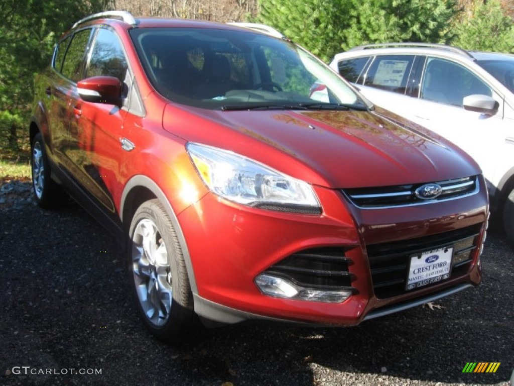 2014 Escape Titanium 1.6L EcoBoost 4WD - Sunset / Charcoal Black photo #1