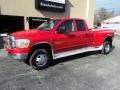 2006 Flame Red Dodge Ram 3500 SLT Quad Cab 4x4 Dually #98982616