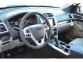 2015 Ford Explorer Medium Light Stone Interior Front Seat Photo