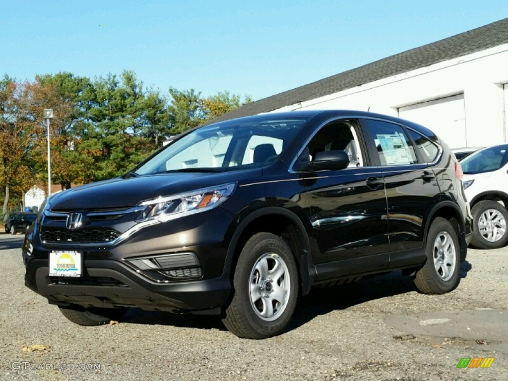 2015 CR-V LX AWD - Kona Coffee Metallic / Black photo #1