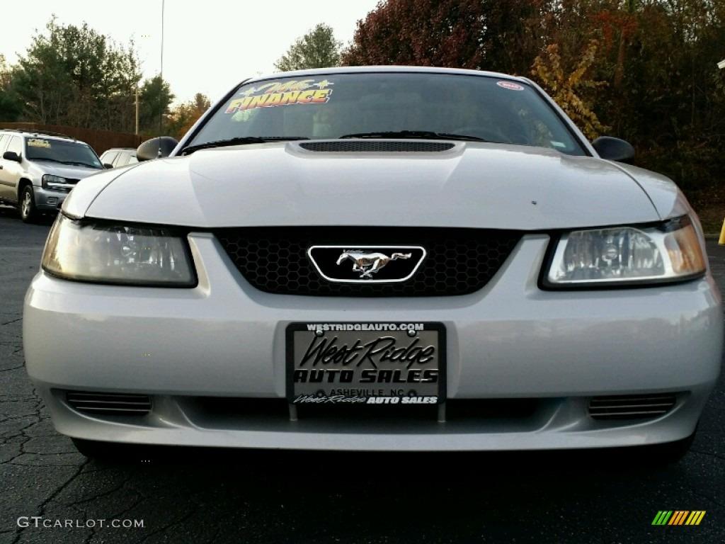 Silver Metallic Ford Mustang