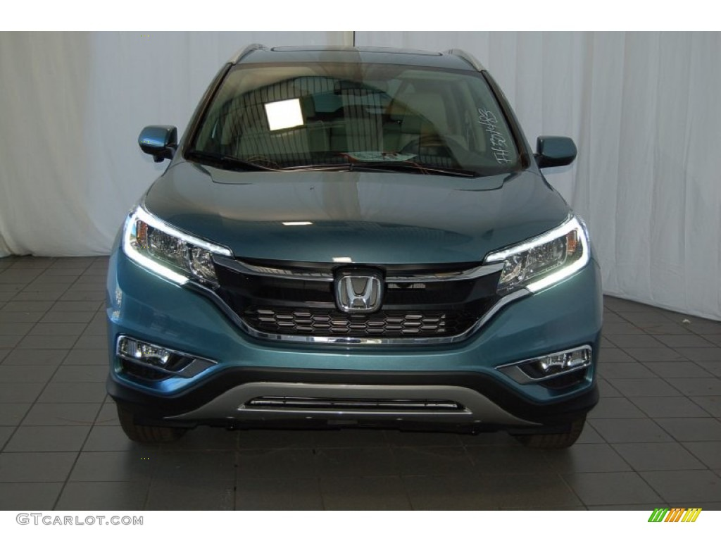 2015 CR-V EX-L - Mountain Air Metallic / Beige photo #3