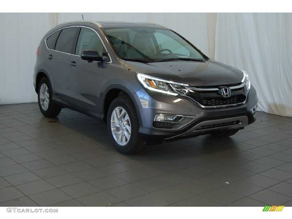 2015 CR-V EX-L - Modern Steel Metallic / Gray photo #1