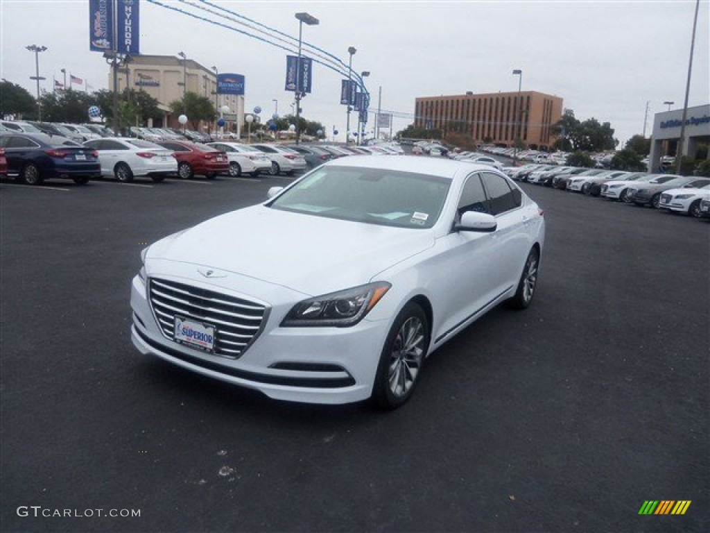 2015 Casablanca White Hyundai Genesis 3.8 Sedan #99072109 ...