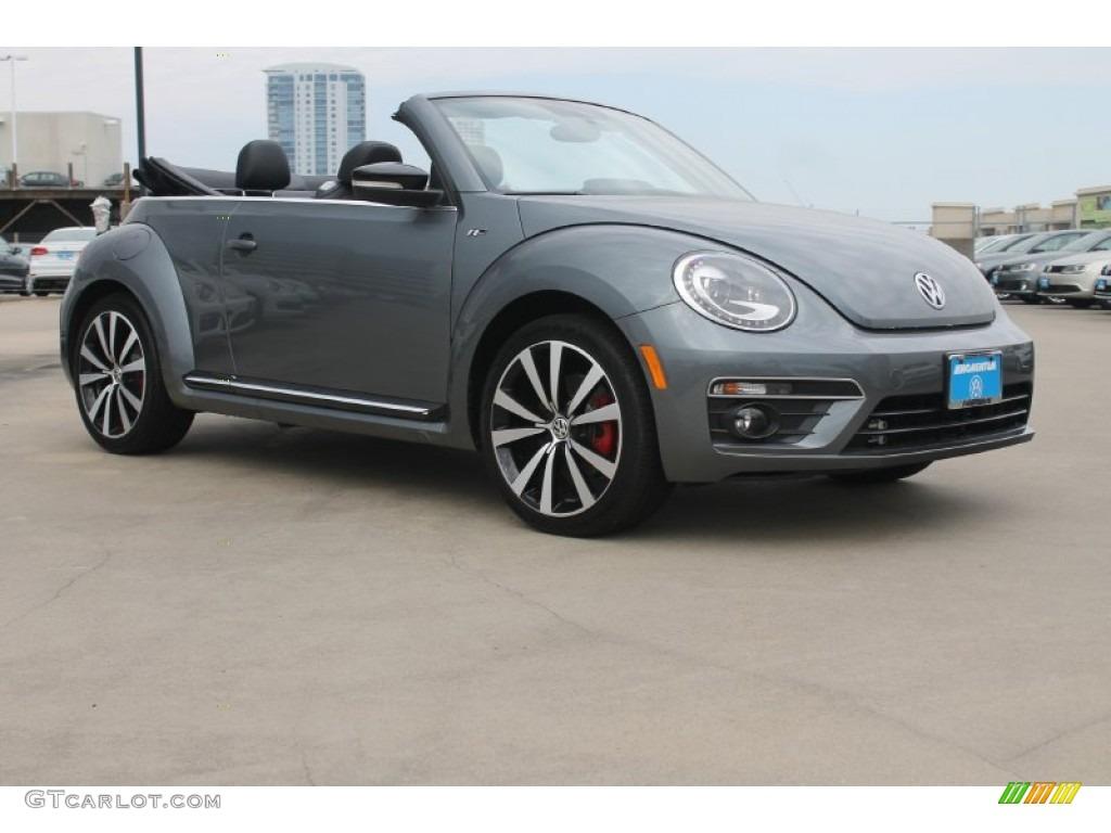 2015 Platinum Gray Metallic Volkswagen Beetle R Line 2.0T Convertible #99107377 Photo #14 ...