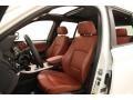 2014 BMW X3 Chestnut Interior Front Seat Photo