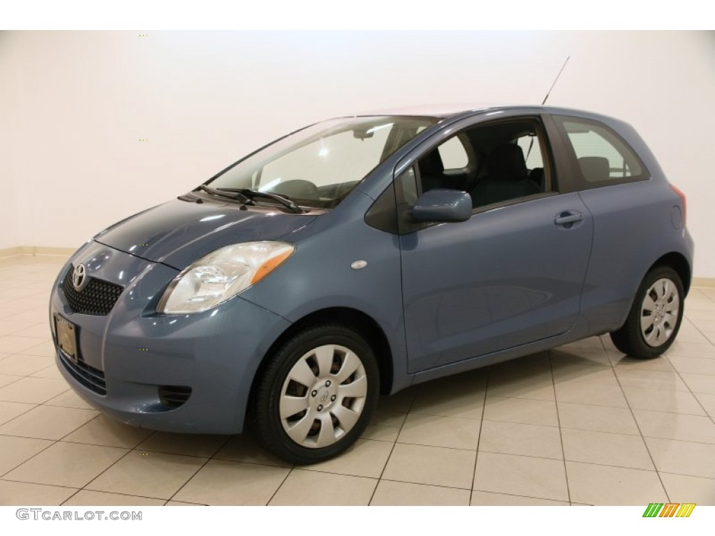 Bayou Blue Metallic 2007 Toyota Yaris 3 Door Liftback Exterior Photo 99144187