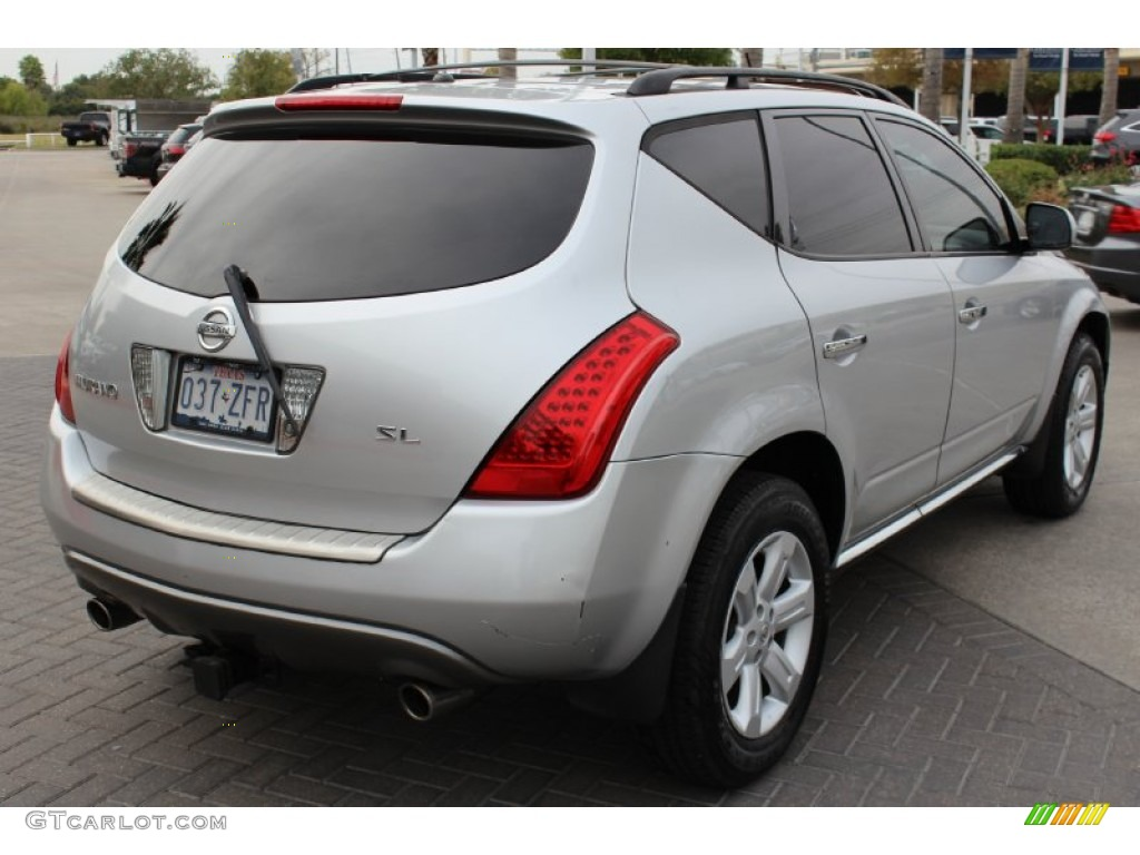 2007 Murano SL - Brilliant Silver Metallic / Charcoal photo #8