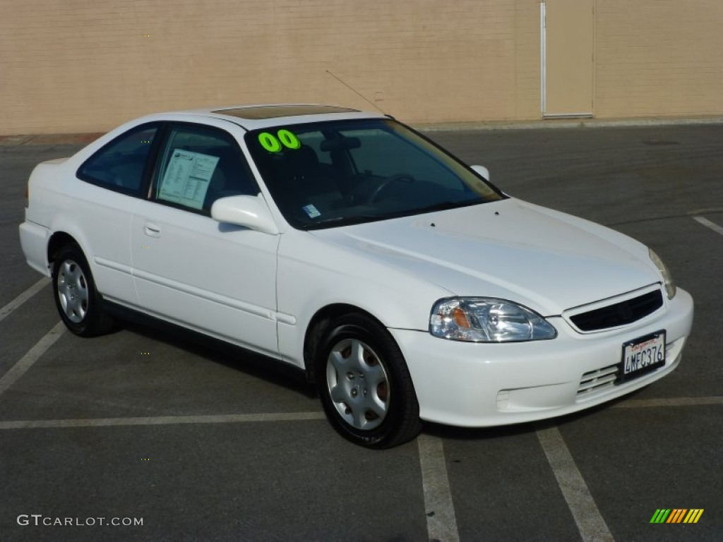 White Honda Civic With Black Interior 2000 Taffeta White Honda Civic Ex Coupe 99173039 My