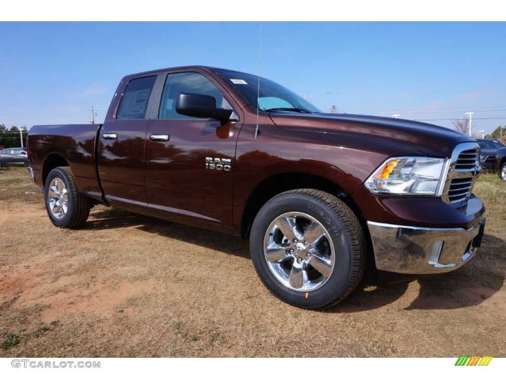 2015 1500 Big Horn Quad Cab - Western Brown / Black/Diesel Gray photo #4