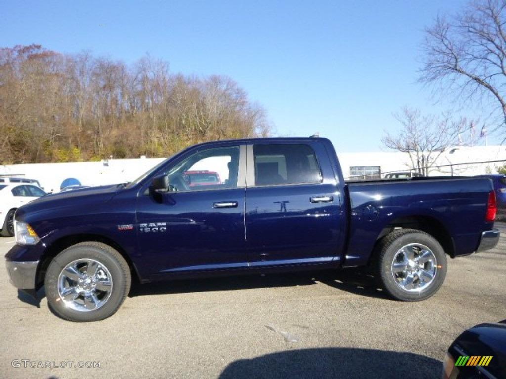 2015 true blue pearl ram 1500 big horn crew cab 4x4 99173289 photo 2 car. Black Bedroom Furniture Sets. Home Design Ideas