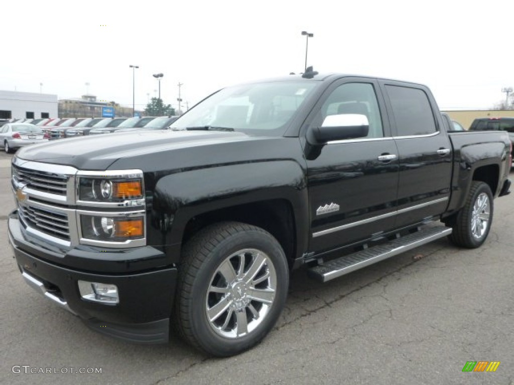 2015 black chevrolet silverado 1500 high country crew cab 4x4 99173226 car. Black Bedroom Furniture Sets. Home Design Ideas